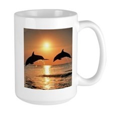 Two Dolphins Mug