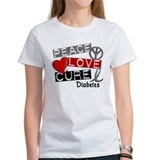 Peace Love Cure Diabetes Tee