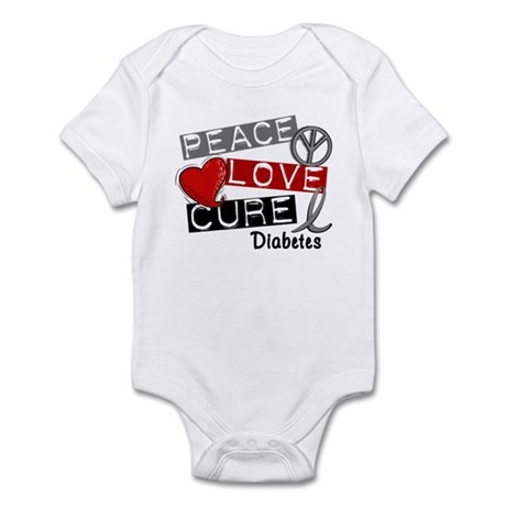 Peace Love Cure Diabetes Infant Bodysuit