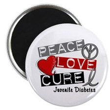 PEACE LOVE CURE Juv Diabetes (L1) Magnet