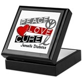 PEACE LOVE CURE Juv Diabetes (L1) Keepsake Box