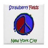 """Strawberry Fields Shirt"" Tile Coaster"