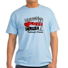 PEACE LOVE CURE Parkinsons (L1) T-Shirt