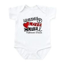 PEACE LOVE CURE Parkinsons (L1) Infant Bodysuit