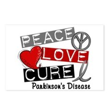 PEACE LOVE CURE Parkinsons (L1) Postcards (Package