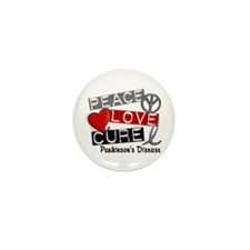 PEACE LOVE CURE Parkinsons (L1) Mini Button (100 p