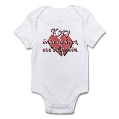 Kory broke my heart and I hate him Infant Bodysuit