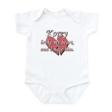 Korey broke my heart and I hate him Infant Bodysui