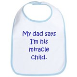 Dad Miracle Child Boy Bib