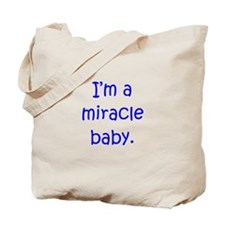 Miracle Baby Boy Tote Bag