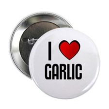 "I LOVE GARLIC 2.25"" Button (100 pack)"