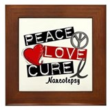 PEACE LOVE CURE Narcolepsy (L1) Framed Tile