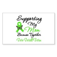 Lymphoma Support (Mom) Rectangle Decal