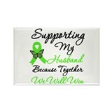 Lymphoma Support (Husband) Rectangle Magnet (100 p