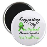 Lymphoma Support (Husband) 2.25&quot; Magnet (10 pack)