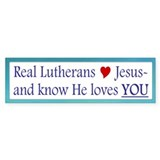 Jeus loves YOU Bumper Car Sticker