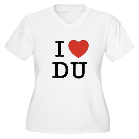 I Heart DU Women's Plus Size V-Neck T-Shirt