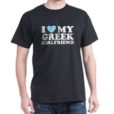 I love My Greek Girlfriend Black T-Shirt