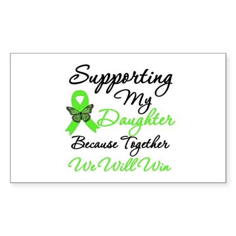 Lymphoma Support (Daughter) Rectangle Sticker 10 