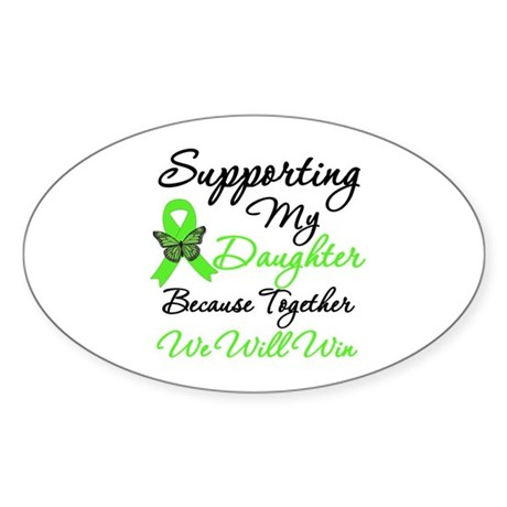 Lymphoma Support (Daughter) Oval Sticker