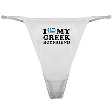 I love My Greek Boyfriend Classic Thong