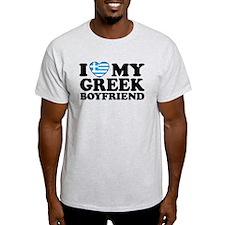 I love My Greek Boyfriend Ash Grey T-Shirt