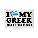 I love My Greek Boyfriend Rectangle Magnet