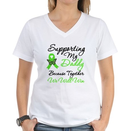 Lymphoma Support (Daddy) Women's V-Neck T-Shirt