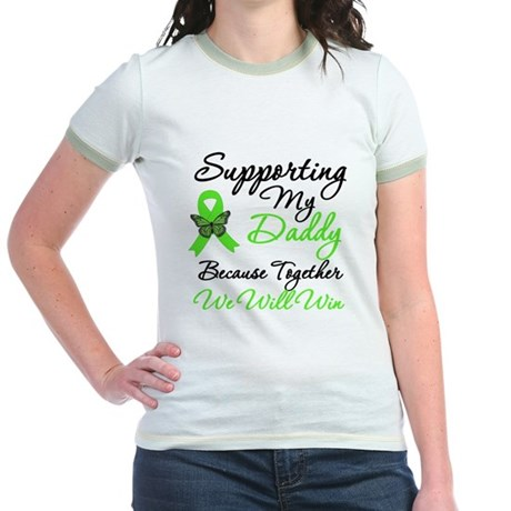 Lymphoma Support (Daddy) Jr. Ringer T-Shirt