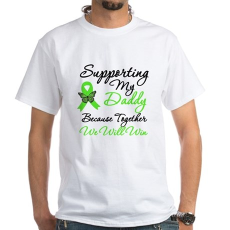 Lymphoma Support (Daddy) White T-Shirt