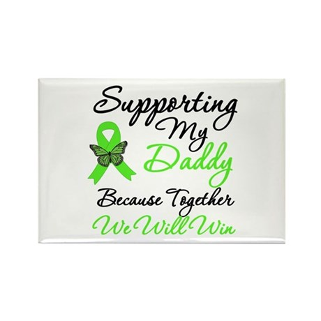 Lymphoma Support (Daddy) Rectangle Magnet (10 pack
