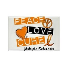 PEACE LOVE CURE MS Rectangle Magnet