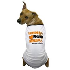 PEACE LOVE CURE MS Dog T-Shirt