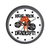 Real Men DEADLIFT! - Wall Clock