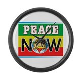 Rasta Peace Now Large Wall Clock
