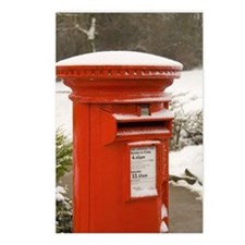 Postcards (Package of 8) - British Post Box