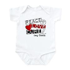 PEACE LOVE CURE Lung Cancer (L1) Infant Bodysuit