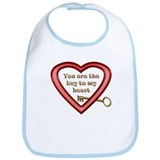 Key to My Heart Bib
