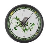 Mockingbird Large Wall Clock