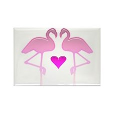 Flamingo Love Rectangle Magnet