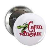 "Cajun Wineaux gator 2.25"" Button (100 pack)"