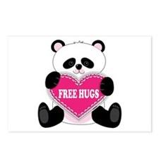 Free Hugs Panda Postcards (Package of 8)