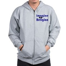 Imagine no Religion Zip Hoodie