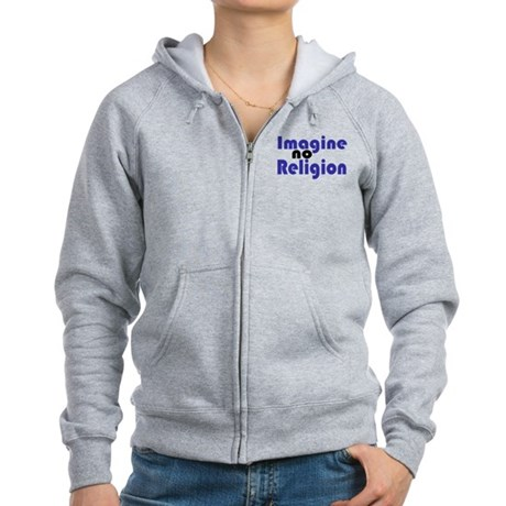 Imagine no Religion Women's Zip Hoodie