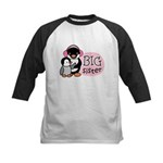 Big Sister - Penguin Kids Baseball Jersey