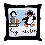 Big Sister - Penguin Throw Pillow