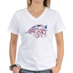 Women's V-Neck Cuttlefish T-Shirt