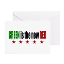 GREEN Is The New RED Greeting Cards (Pk of 10)