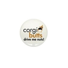 Corgi Butts Drive Me Nuts RHT Mini Button (10 pack