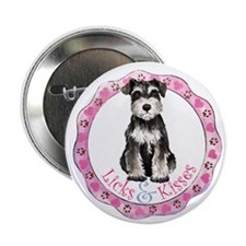"Miniature Schnauzer Valentine 2.25"" Button"